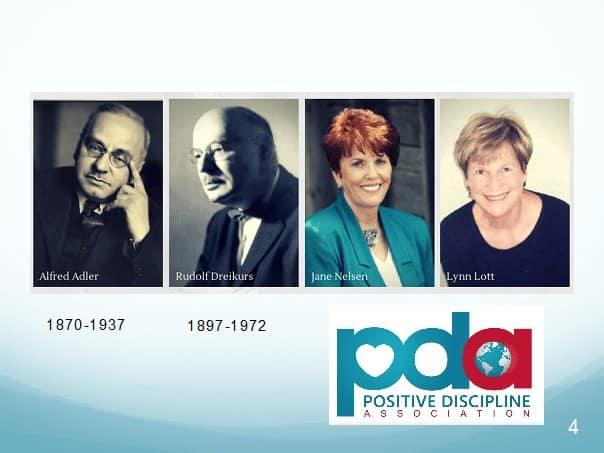 Masters of Positive Discipline, Adolf Adler, Rudolf Dreikurs, Jane Nelsen and Lynn Lott